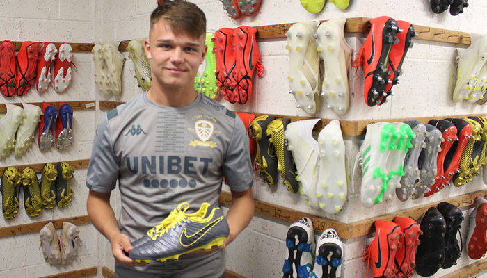 Signed boots for auction: Jamie Shackleton
