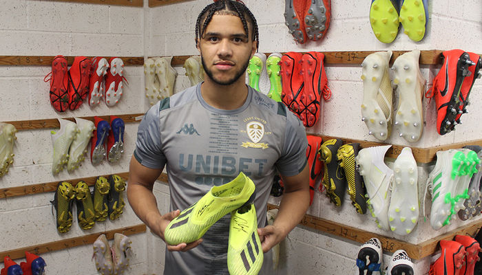 Signed boots for auction: Tyler Roberts