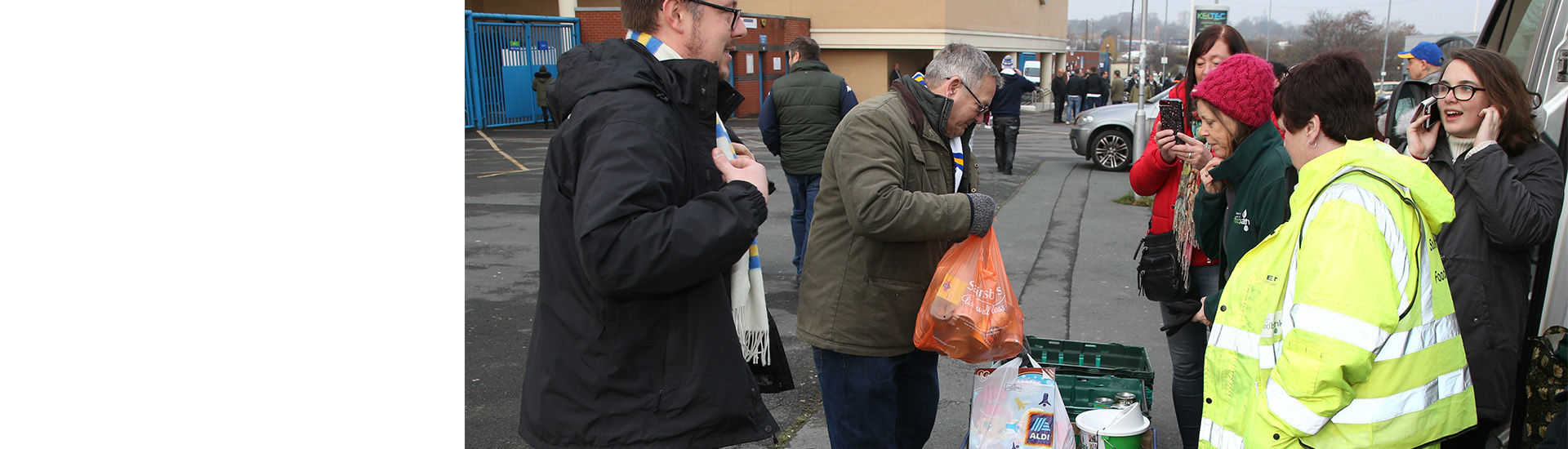 Foodbank Back In Action For 201920 Campaign Leeds United