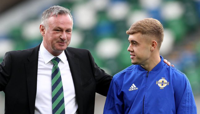 Alfie McCalmont and Michael O'Neill
