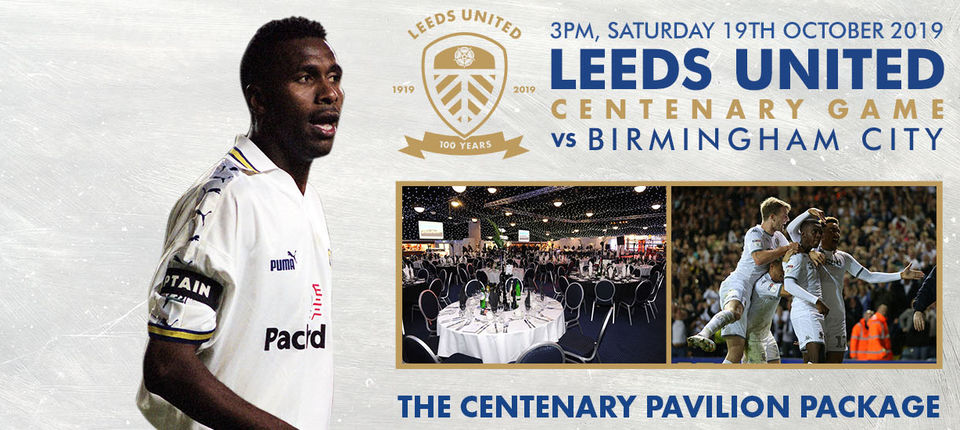 Join Lucas Radebe in the Pavilion for the official Centenary Match