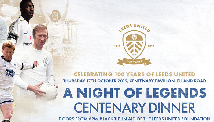 Centenary Dinner: Individual places now available