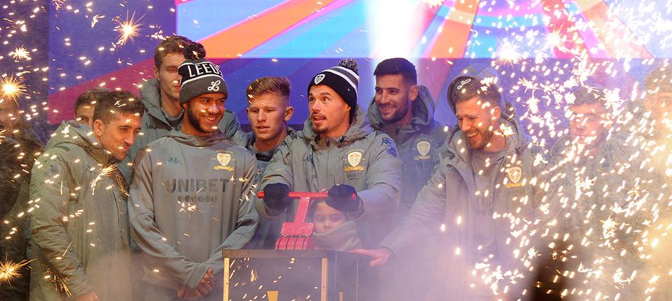 First team switch on Leeds Lights