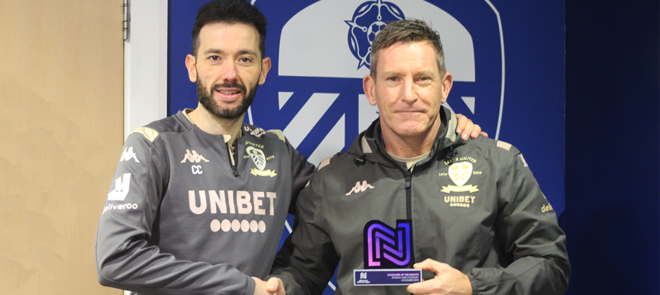 Dan O\'Hearne presented with Manager of the Month award