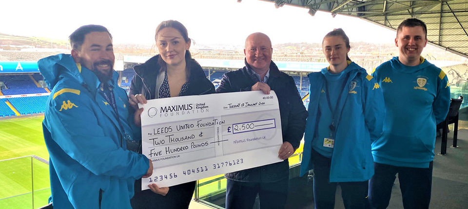 MAXIMUS Foundation UK make donation to disability programme