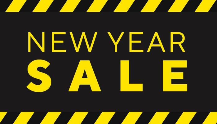 New Year sale online and in store now