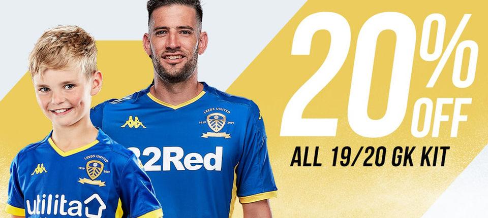 20% offer on all 19/20 goalkeeper kits