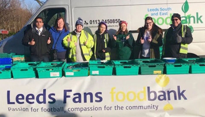 Help support the Leeds United Fans Foodbank