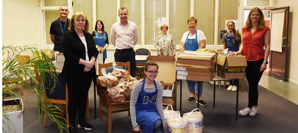 Leeds United donate food packages to Holbeck Together