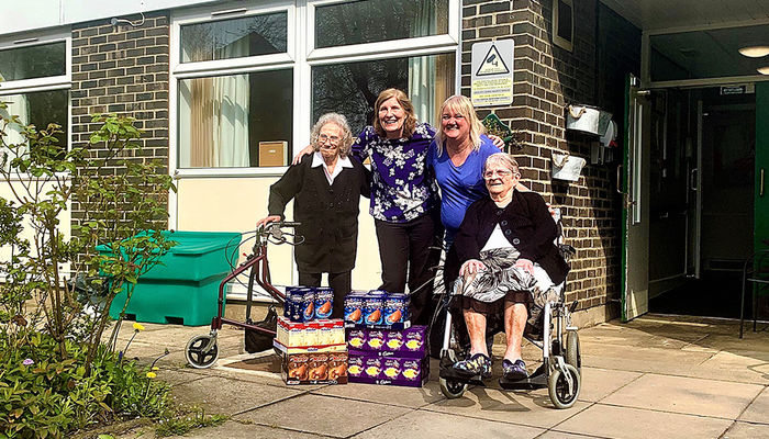 Easter treats donated to vulnerable care home residents