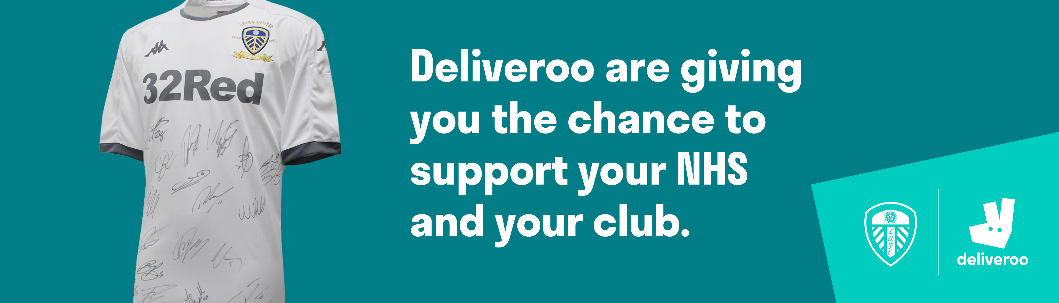 Deliveroo are giving you the chance to support your NHS and your club -  Leeds United