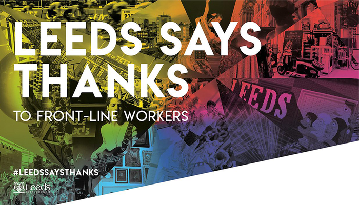 Leeds United joins council to thank frontline workers