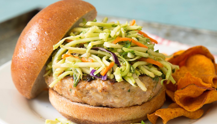 Eat Like A Player: Thai Chicken Burgers