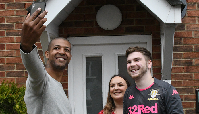 Jermaine Beckford Makes Surprise Deliveries To Four Lucky Leeds Fans