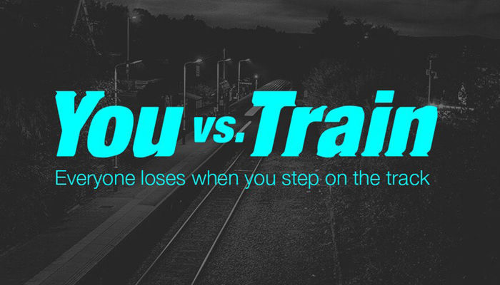 Everyone loses when you step on the track #YouvsTrain