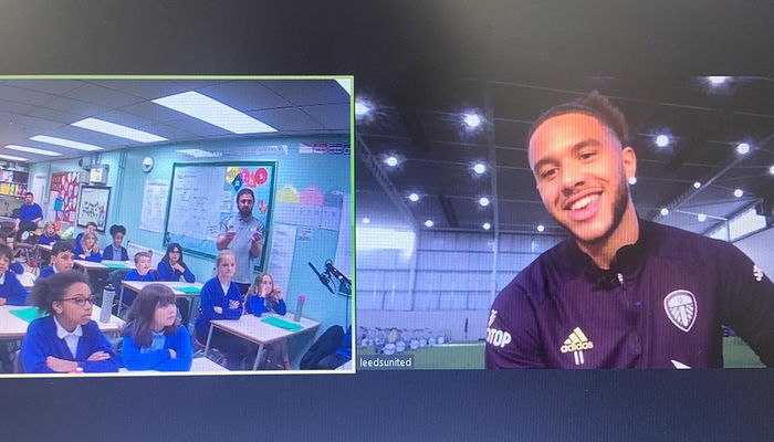 Gallery: Leeds United Star makes special appearance during school workshop