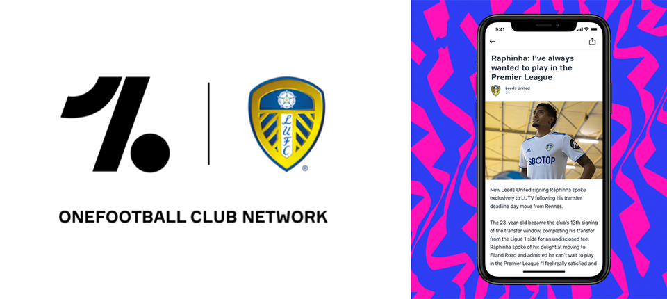 Leeds United joins forces with OneFootball