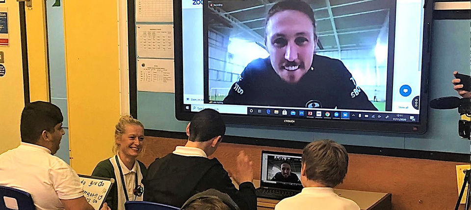 Luke Ayling on hand to help tackle Anti-Bullying Week