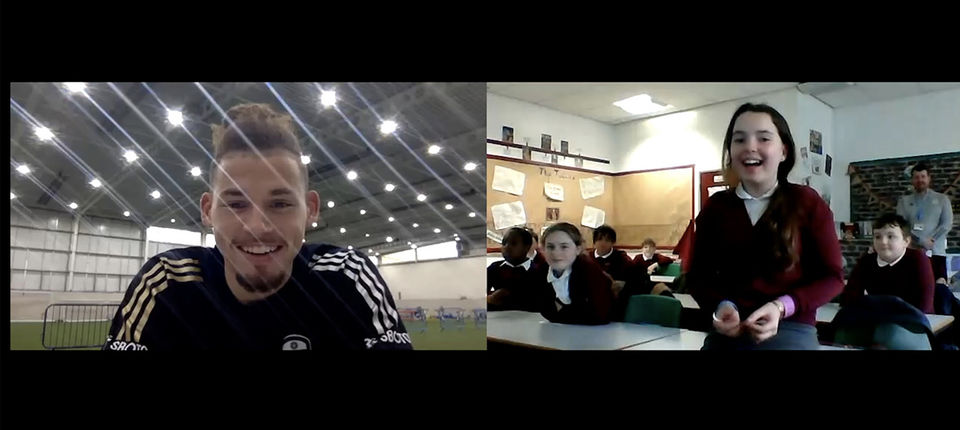 Kalvin Phillips takes part in virtual Q and A with local Primary School