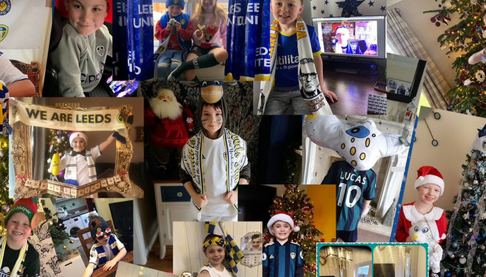 Leeds United take the annual Junior Members Christmas Party online
