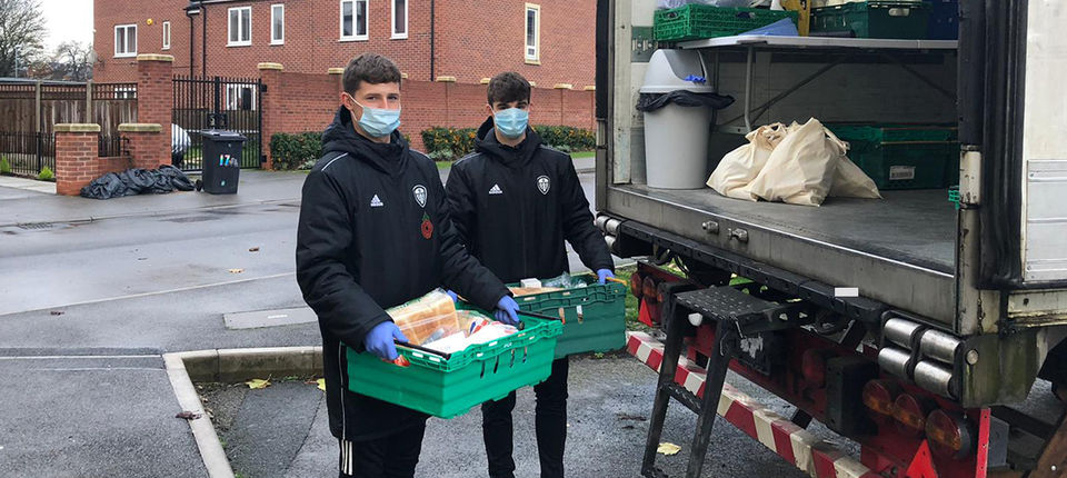 Academy youngsters volunteer in the local community