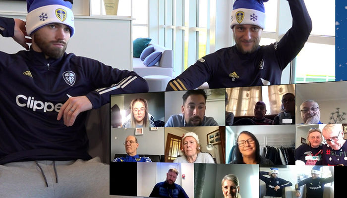 Leeds United duo join festive dementia cafe session