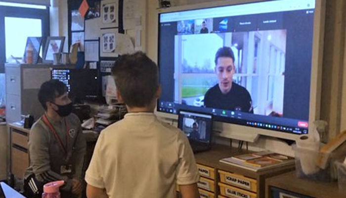 Robin Koch attends virtual lesson with the Foundation