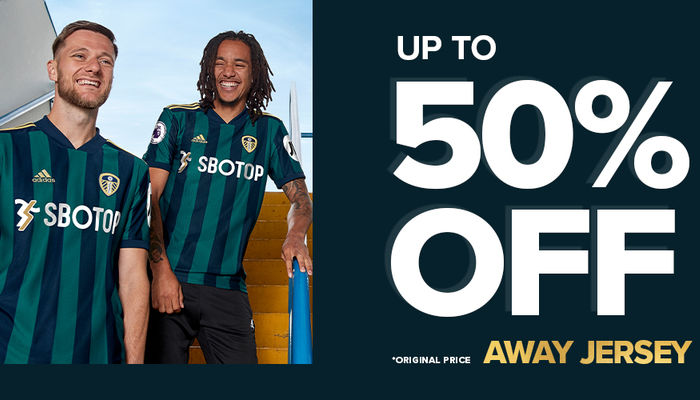 Up to 50% off selected Leeds United kits