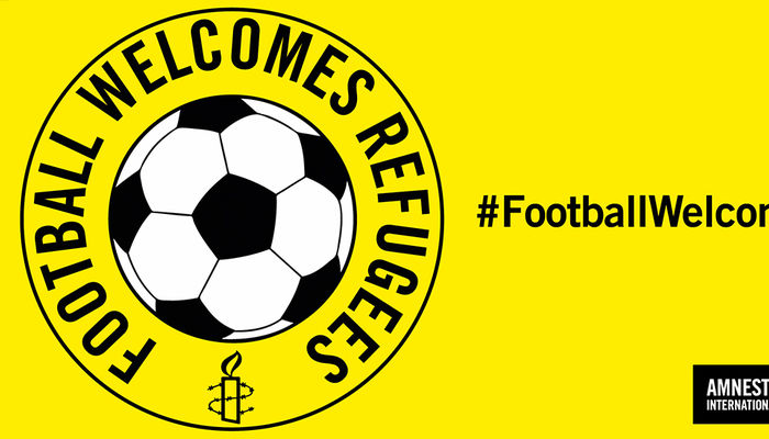Leeds United show support for Amnesty\'s \'Football Welcomes\' month