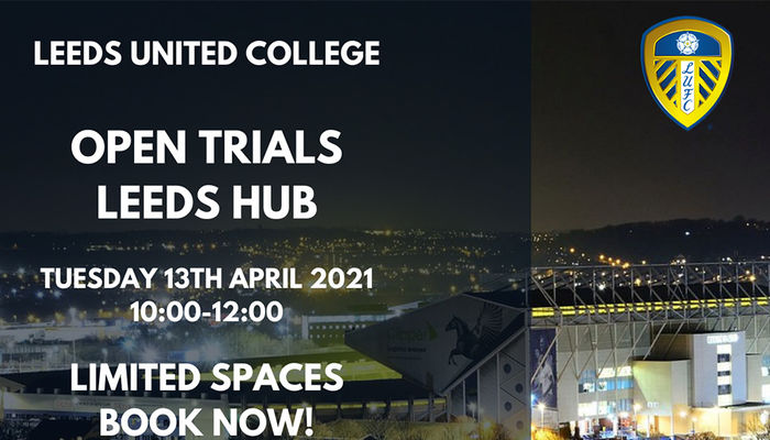 Open trial places available with Leeds United College