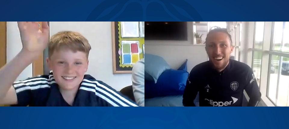 Luke Ayling interviewed by Beeston Primary School student
