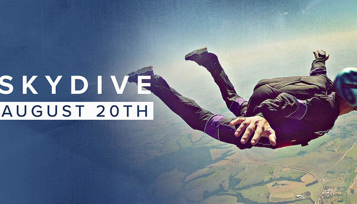 Limited places available for Foundation tandem skydive