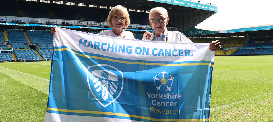 Leeds United supporter praises the work of Yorkshire Cancer Research