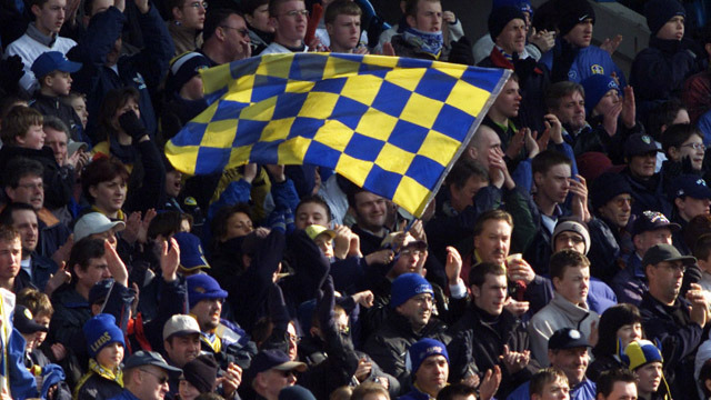 SUPPORTER FLAGS RETURN TO ELLAND ROAD