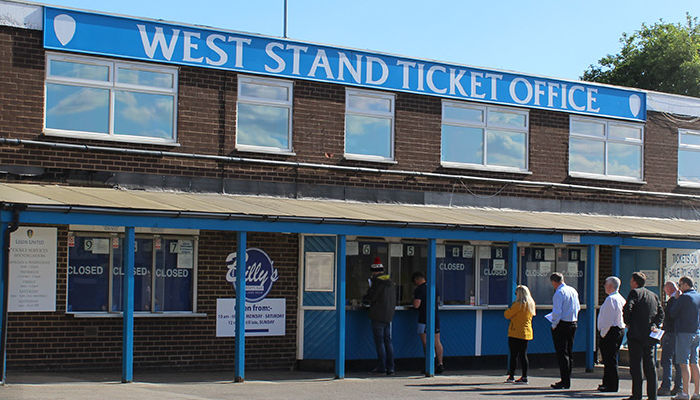 WEST STAND TICKET OFFICE OPEN MONDAY