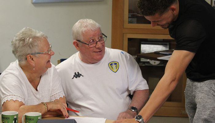 WHITES MIDFIELDER VISITS FOUNDATION PROJECT
