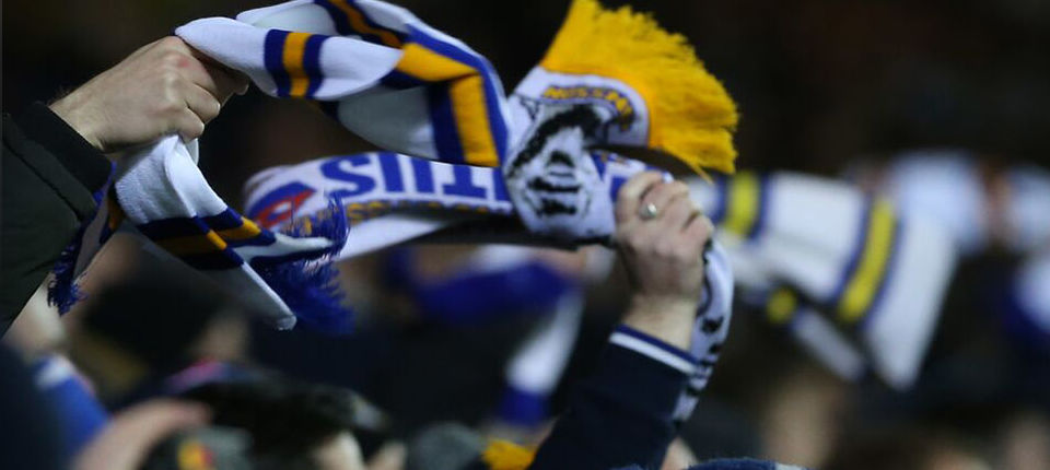 LEEDS UNITED SCARVES OUT IN FORCE AT HOME CLASH