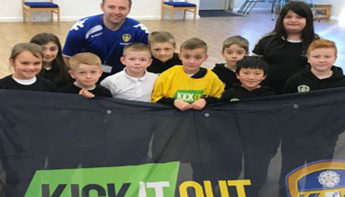 WHITES FOUNDATION AND LEEDS PRIMARY SCHOOL SUPPORT KICK IT OUT