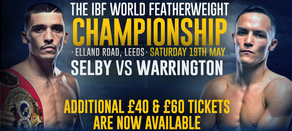 EXTRA TICKETS RELEASED FOR IBF WORLD TITLE FIGHT