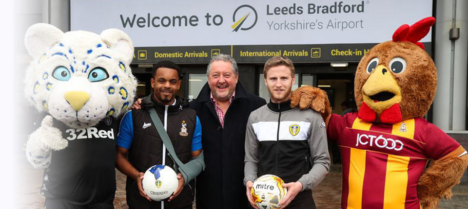 LEEDS UNITED AND BRADFORD CITY LINK UP WITH AIRPORT