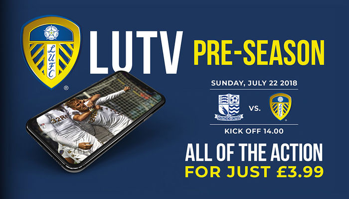 WATCH SOUTHEND UNITED FRIENDLY ON LUTV