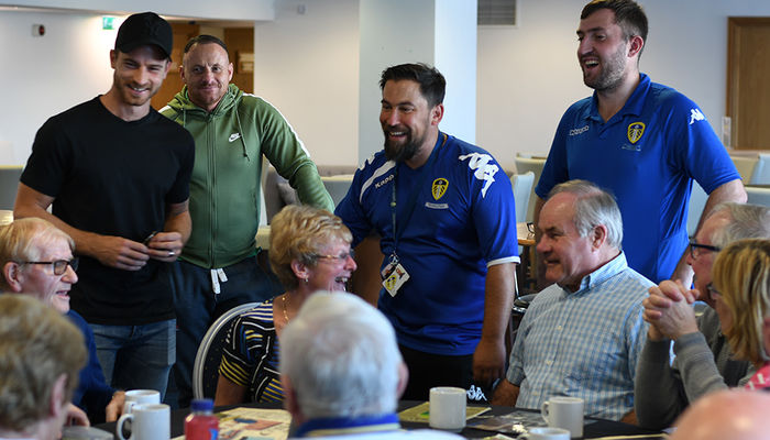 LEEDS UNITED STARS ATTEND DEMENTIA CAFE