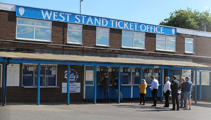 WEST STAND TICKET OFFICE OPEN ON SUNDAY