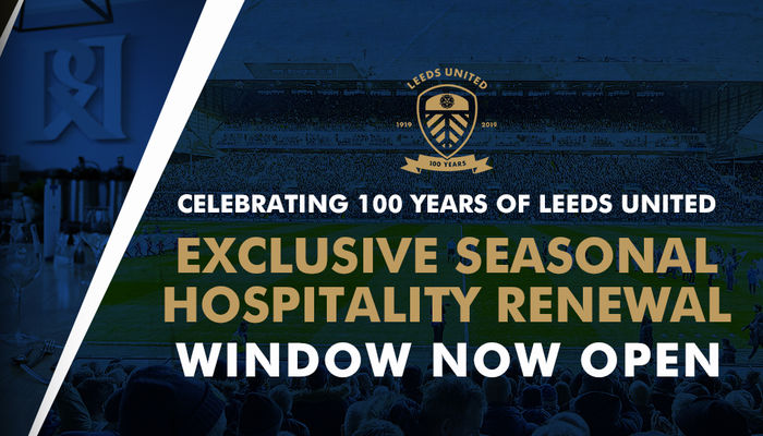 HOSPITALITY RENEWALS NOW OPEN FOR CENTENARY SEASON