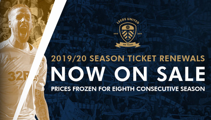SEASON TICKET RENEWALS NOW OPEN