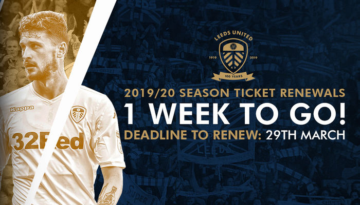 Season Ticket renewals surpass 16,000 mark