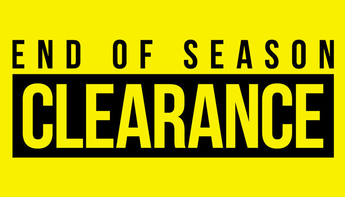 End of season sales start today