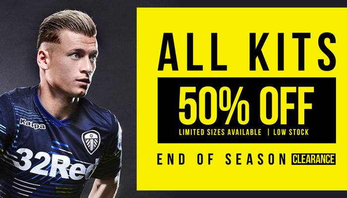 50% offer on all 2018/19 kits