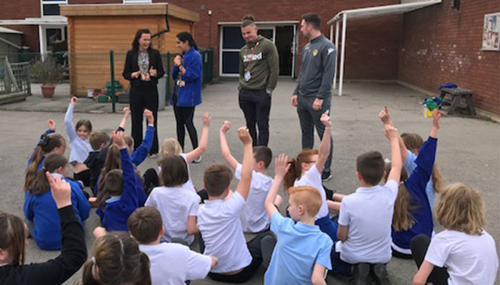 Kalvin Phillips supports Foundation\'s education initiative
