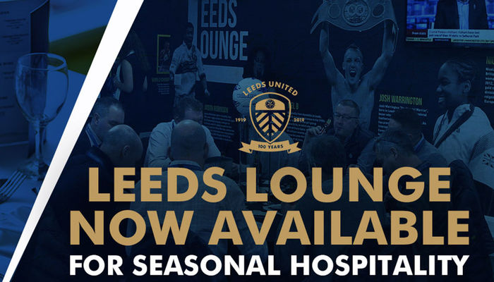 Leeds Lounge seasonal bookings now available